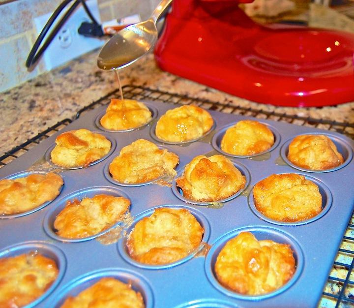hot muffins + glaze = joy