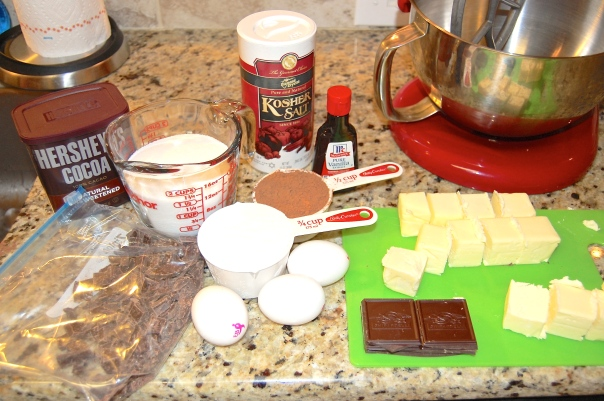 GF Fudge Brownie Ingredients