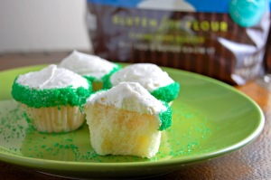 Em the Baker: Gluten Free Mini Vanilla Cupcakes with Vanilla Buttercream Frosting