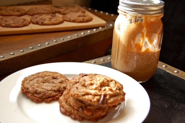 Em the Baker: Flourless Maple Almond Butter Chocolate Chunk Cookies