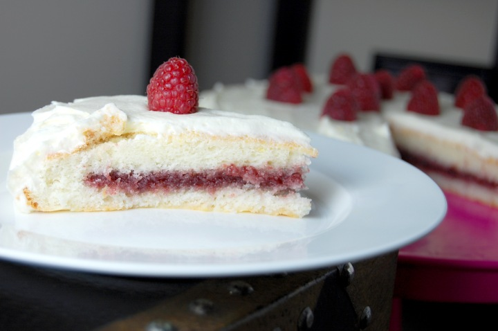 Gluten Free Lemon Raspberry Cake {gluten free and oh so perfect for Spring!} | emthebaker.com