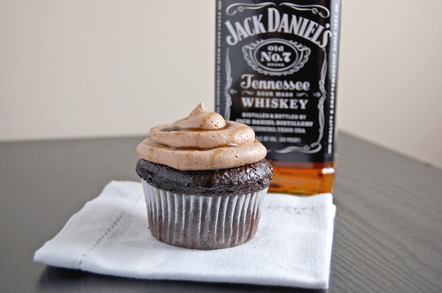 Gluten Free Whiskey Chocolate Cupcakes with Whiskey Chocolate Buttercream and a Whiskey Drizzle | emthebaker.com