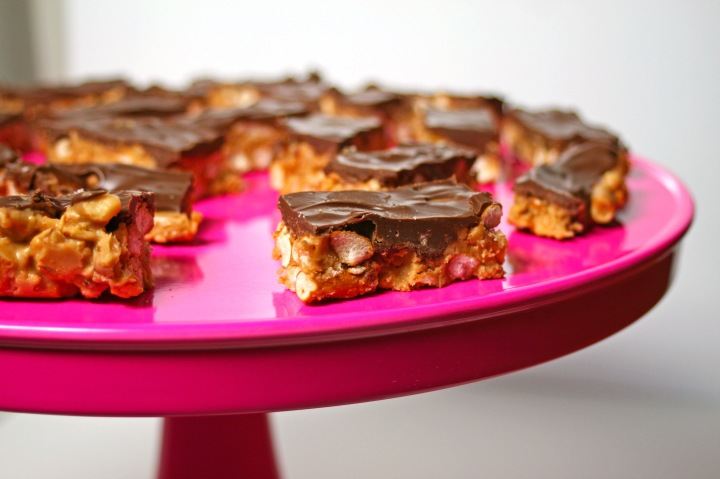 Gluten Free Chocolate Peanut Butter Pretzel Bars
